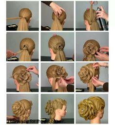 Flower hairstyle tutorial