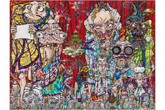 """Takashi Murakami, """"In the Land of the Dead, Stepping on the Tail of a Rainbow"""" 