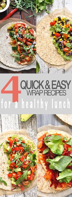 4 Quick & Easy Wrap Recipes For A Healthy Packed Lunch.