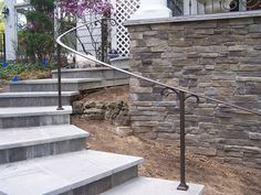 exterior curved wrought iron handrails | This exterior curve… | Flickr