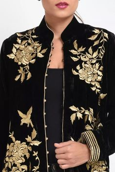 A Global Luxury Design House reinterpreting Indian heritage threads for the modern, discerning consumer Designer Dress For Men, Indian Designer Wear, Designer Dresses, Embroidered Clothes, Embroidered Jacket, Couture Embroidery, Silk Jacket, Chanel Fashion, Saree Blouse Designs