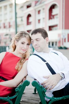 Disneys BoardWalk Resort Engagement Photos: Ashley + Charles