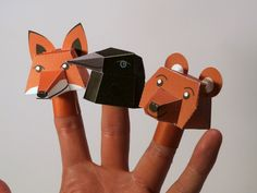 paper finger puppets to make with printable!