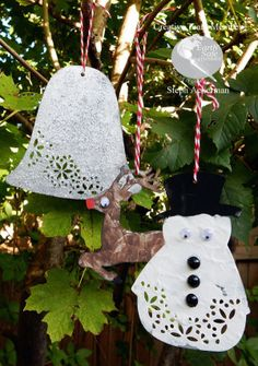 Create Christmas ornaments with Earth Safe Finishes products.