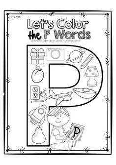 ALPHABET LETTER OF THE WEEK P - TeachersPayTeachers.com
