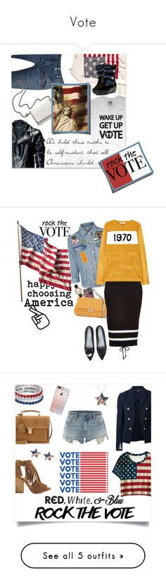 """Vote"" by sweetdreamer24 ❤ liked on Polyvore featuring Hollister Co., Balmain, Leka, STELLA McCARTNEY, Pajar, rockthevote, Chiara Ferragni, Topshop, Casetify and Puma"