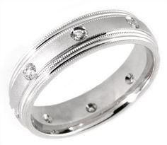 14 KT & DIAMOMD WEDDING RING