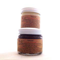 Copper Crystal Elixir Anti-Aging Facial Scrub & Balm Set / Nefertiti Healing Duo / Youthful, supple skin, tone, texture / Reduce wrinkles