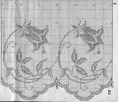 Kira scheme crochet: Tulip motif for tablecloths and curtains