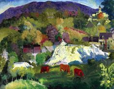 Village on the Hill George Wesley Bellows - 1916