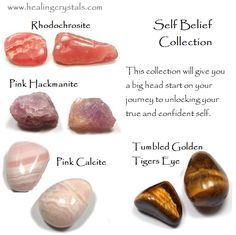 One of the greatest gifts you can give yourself is self belief. Use this collection to totally rewire your inner beliefs and become someone who never backs down from life. Crystal Healing Stones, Healing Crystal Jewelry, Holistic Healing, Natural Healing, Crystals And Gemstones, Stones And Crystals, Gem Stones, Gemstone Properties, Chakra Stones