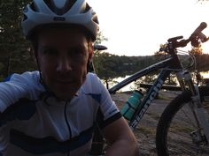 Me and my Bianchi MTB on an evening ride. #bianchi #mtb
