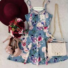 Vestido Alcinha Cristiane Strapp no NEOPRENE  C/BOJO ( Estampa FLOWERS NUDE)                                                                                                                                                                                 Mais