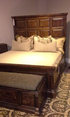 A.R.T. Furniture Whiskey Oak king panel bed. MSRP $2688.95. Mathis Brothers closeout price $1099.95. Please ask for Dessie.