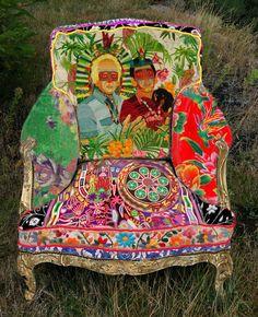 pinner said: Dieu me pardonne, et surtout Leo Chiachio & Daniel Giannone, je me suis servi d'une de leurs oeuvres pour le dos de mon fauteuil!