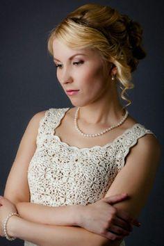 CROCHET PATTERN  Wedding Dress  Crochet by HookedByCrochetArt