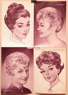 Vintage Hair Salon Poster 16x22 1960s