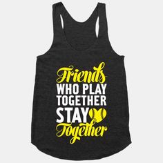 Friends who play together stay together! #teammates #softball #sportsgirl
