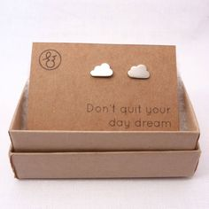 Cloud Silver Stud Earrings