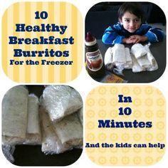 Healthy Kids Breakfast Burritos | Edible Crafts | CraftGossip.com