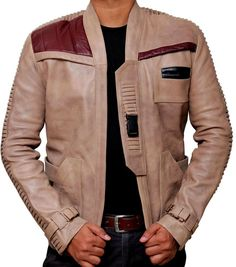 John Boyega Finn Star Wars Leather Jacket - All Sizes are Available in Clothes, Shoes & Accessories, Men's Clothing, Coats & Jackets | eBay