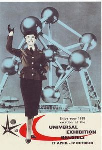 1958 World Expo Brussels Belgium Atomium Poster
