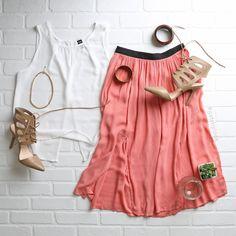 Look de hoy #ootd #gatsbygirl #midiskirt #summervibe