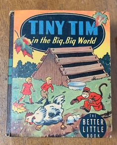 Excited to share this item from my #etsy shop: Tiny Tim In The Big Big World Hardcover The Better Little Book Based On The Famous News Strip 1934 And 1945 Miniature Collectible Books