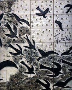 "Füreya Koral, "" Wall panel A"", Divan Patisserie, İstanbul, 1968 (Erdinç Bakla archive) Ceramic Artists, Istanbul, Beast, Pottery, Ceramics, Sculpture, Illustration, Painters, Instagram"