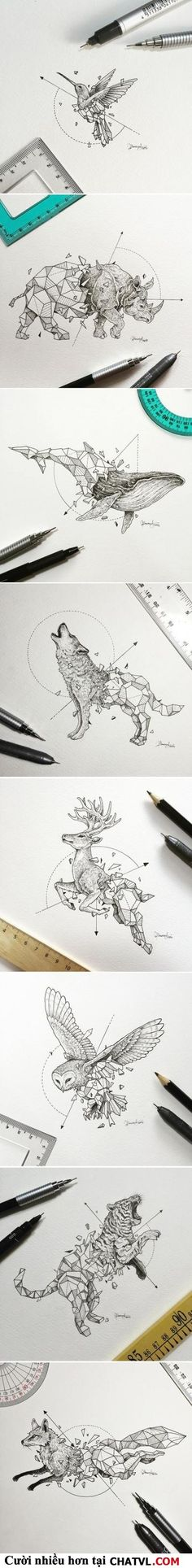 Cool animal drawings for tattoo ideas