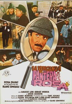 Revenge of the Pink Panther, Spanish title card. 1978 Submitted by videorecord Henry Mancini, Mafia, Dyan Cannon, Tony Adams, Ron Clark, Herbert Lom, Blake Edwards, Title Card, Pink Panthers