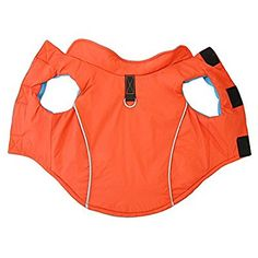 Amazon.com : Gooby Cold Weather Fleece Lined Sports Dog Vest with Reflective Lining, X-Small, Orange : Pet Supplies