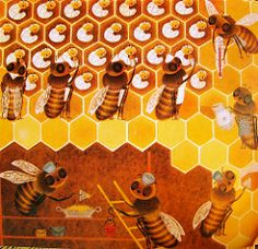 In the Hive   by art.crazed FromThe Bee, written and illustrated by Iliane Roels, Grosset & Dunlap, 1969.