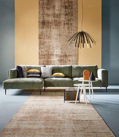 Living Room Sofa, Living Room Decor, Bedroom Decor, Interior And Exterior, Interior Design, Sofa Inspiration, Green Sofa, Sofas, Fashion Room