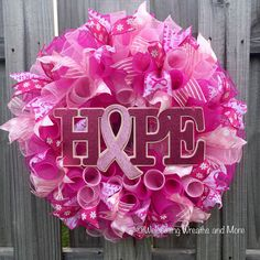 Hey, I found this really awesome Etsy listing at https://www.etsy.com/listing/286043673/breast-cancer-awareness-wreath-breast