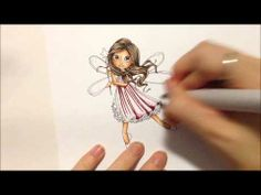 Kit and Clowder - Copic Tutorial Clothing Intermediate Folds - YouTube