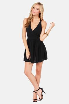d91a091c569 Sexy Black Dress - Short Dress - Backless Dress -  40.00 Crossing Lines