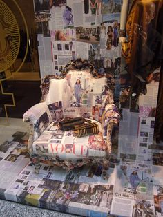 Shop window and the Vogue chair, Milan