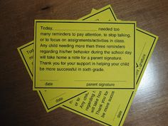 Finding JOY in 6th Grade: Classroom Management: keeping track of student behaviour