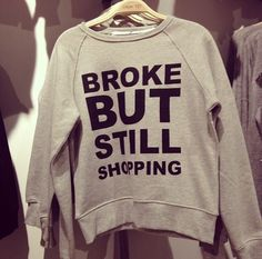 Oh this is me for sure! Thank god for credit cards :)