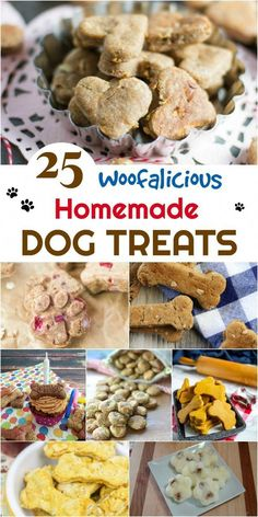 Looking for healthy dog treats you can make at home? Check out our 25 Woofalicious Homemade Dog Treat Recipes here! Looking for healthy dog treats you can make at home? Check out our 25 Woofalicious Homemade Dog Treat Recipes here! Puppy Treats, Diy Dog Treats, Healthy Dog Treats, Home Made Dog Treats Recipe, Homeade Dog Treats, Frozen Dog Treats, Homemade Dog Cookies, Homemade Dog Food, Homemade Dog Biscuits