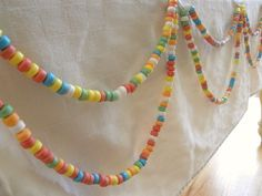 Awesome candy necklace garland #candy #party