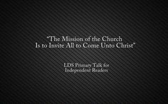 ... Primary Talks 2016 on Pinterest | Primary Talks, Lds Primary and The