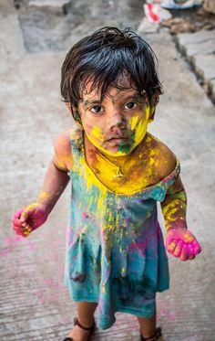 Am enjoying the colour festival #Holi by Pugalenthi Iniabarathi on 500px