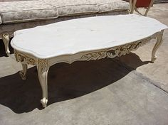 #rubylane.com             #table                    #Elegant #Vintage #Painted #French #Style #Marble #Coffee #Table #Shabby #Chic!                         Elegant Vintage Painted French Style Marble Top Coffee Table Shabby Chic!                               http://www.seapai.com/product.aspx?PID=1302625