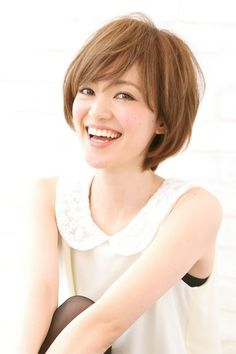 Cute short bob with bangs