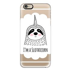iPhone 6 Plus/6/5/5s/5c Case - I'm a Slothicorn - Sloth - Unicorn ($40) ❤ liked on Polyvore featuring accessories, tech accessories, iphone case, slim iphone case, apple iphone cases and iphone cover case