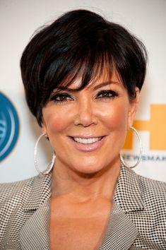 Kris Jenner Short cut with bangs - Kris Jenner Short Hairstyles - StyleBistro