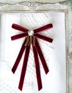 Velvet Bow Tie, Velvet Ribbon, Red Velvet, Fabric Bows, Ribbon Bows, Women Bow Tie, Dance Accessories, Woman Wine, Birthday Favors