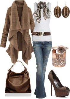 Taupe & Leopard ♡